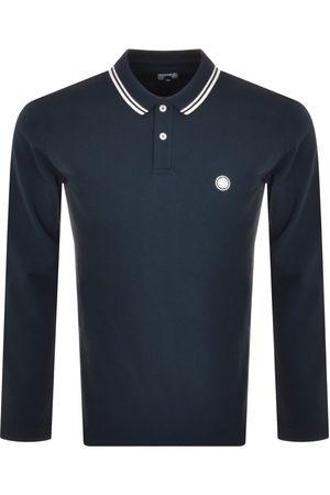 Pretty Green Miehet Pitkähihaiset - Barton Long Sleeve Polo T Shirt Navy