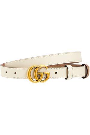 Gucci Naiset Vyöt - 2cm Gg Marmont Reversible Thin Belt