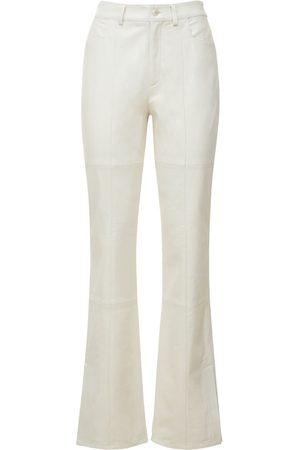 Wandler Naiset Nahkahousut - Astr High Waist Slim Leather Pants