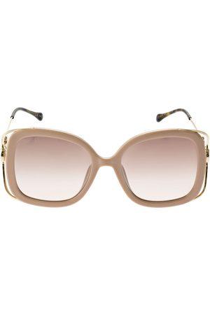 Gucci Naiset Aurinkolasit - Horsebit Squared Metal Sunglasses