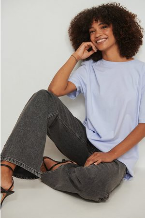 NA-KD Oversized T-Shirt - Blue