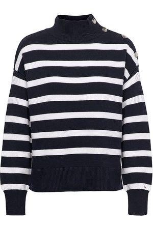 Tommy Hilfiger Org Co Mock-Nk Button Sweater Neulepaita