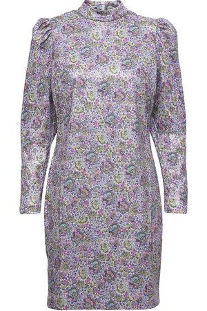 Dante 6 Nanou Jacquard Print Dress Polvipituinen Mekko Sininen
