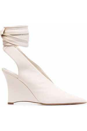Emilio Pucci Ankle-tie wedge pumps