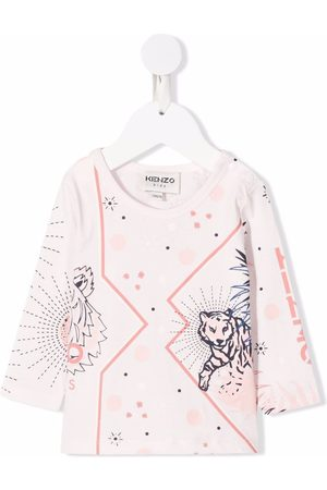 Kenzo Tiger-motif print organic cotton T-shirt