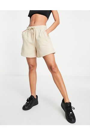 NA-KD Naiset Setit - Co-ord jersey shorts in -Neutral