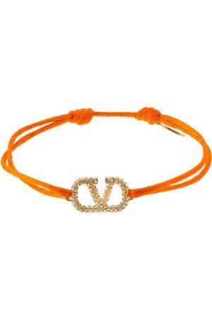 VALENTINO GARAVANI Crystal V Logo Slim Adjustable Bracelet