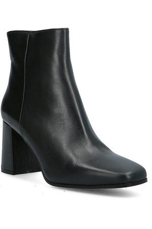 A Pair Square Classic Bootie Shoes Boots Ankle Boots Ankle Boot - Heel Musta