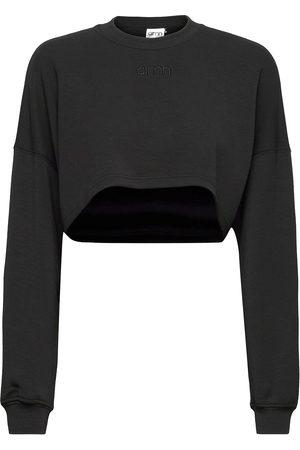 aim'n Black Comfy Crop Sweatshirt Svetari Collegepaita