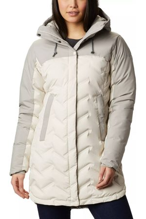 Columbia Naiset Untuvatakit - Women's Mountain Croo Long Down Jacket Chalk M