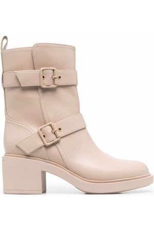 Gianvito Rossi Side-buckled ankle boots