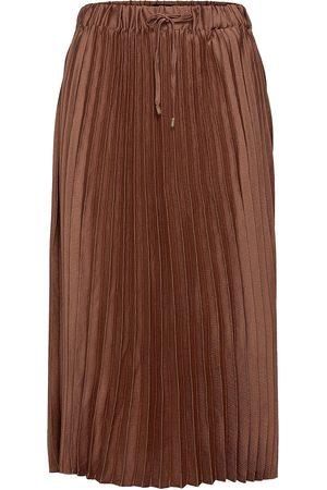 Scotch&Soda Naiset Midihameet - Pleated Midi-Length Skirt Polvipituinen Hame Vihreä