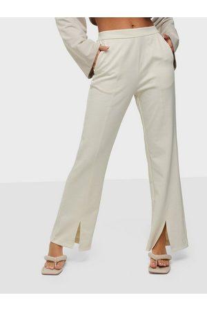 VILA Naiset Leveälahkeiset - Viamerone Hw Wide Pants Birch