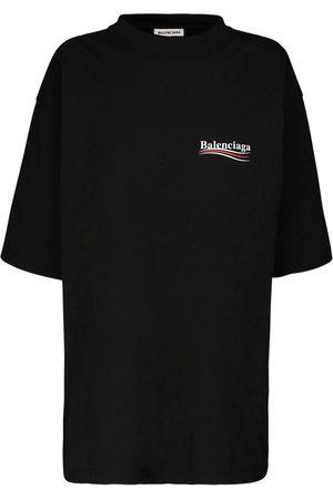Balenciaga Naiset T-paidat - Oversize Political Logo Jersey T-shirt