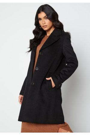 SELECTED Naiset Villakangastakit - New Sasja Wool Coat Black 34