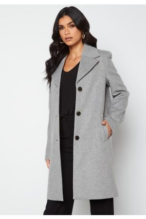 SELECTED New Sasja Wool Coat Light Grey Melange 34