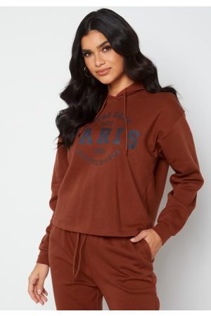 ONLY Comfy Life L/S Print Hood Roasted Russet Paris XS