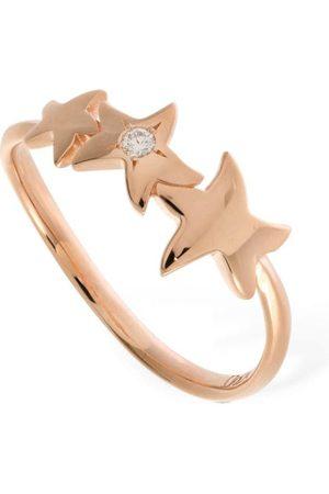 Dodo 9kt & Diamond Stellina Thin Ring