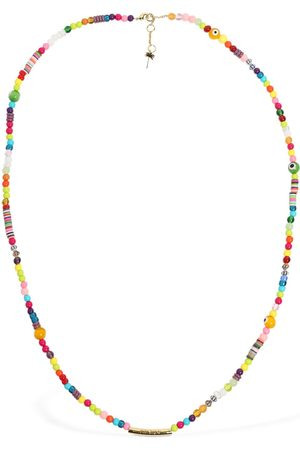 Palm Angels Long Logo Rainbow Necklace
