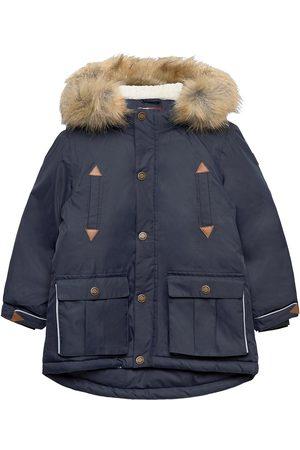 Mikk-Line Twill Nylon Boy Parca Outerwear Snow/ski Clothing Snow/ski Jacket