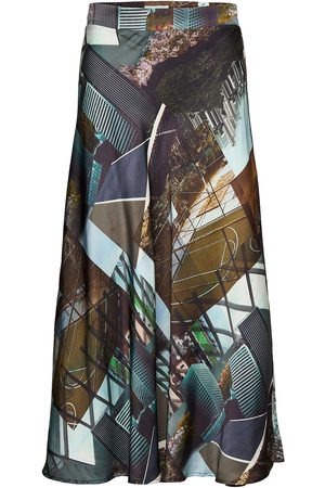 Coster Copenhagen Bias Skirt In Urban Collage Print Polvipituinen Hame Monivärinen/Kuvioitu
