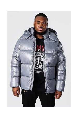 Boohoo Plus Size Recycled Highshine Puffer Jacket