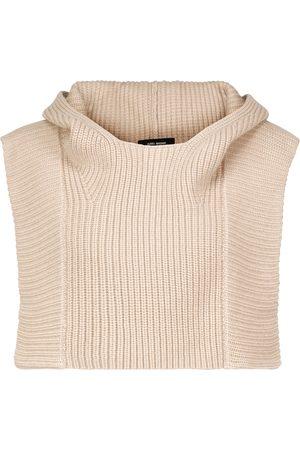 Isabel Marant Poncho Palmer de lana y cachemir