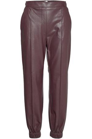 BOSS C_teruna Leather Leggings/Housut Ruskea