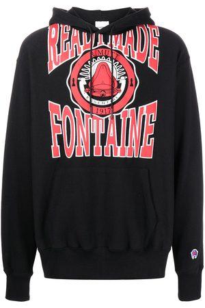 READYMADE Collegepaidat - Logo-print pullover hoodie
