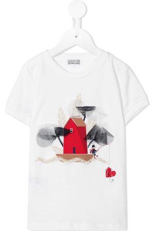 Il gufo Appliqué-detail cotton T-shirt