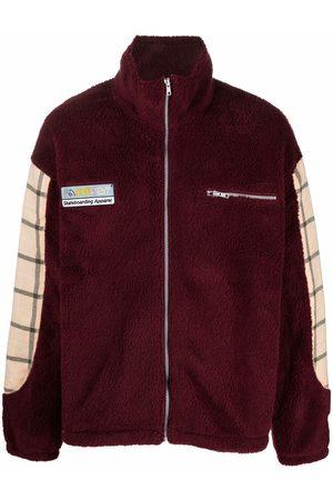 PACCBET Miehet Fleecetakit - Wool fleece patchwork jacket