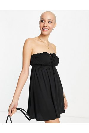 Cotton On Tiered bandeau dress in black