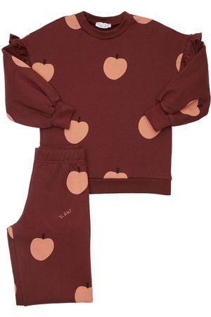 YELLOWSUB Apple Print Cotton Sweatshirt & Pants