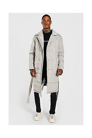 Boohoo Padded Double Breasted Trench Coat