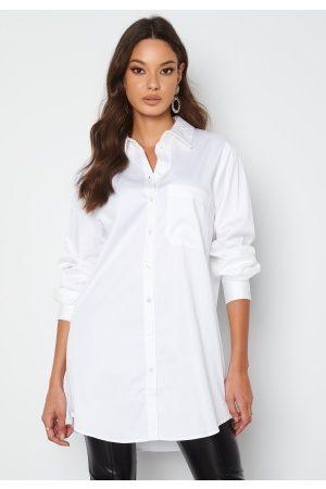 Object Roxa L/S Long Shirt White 34