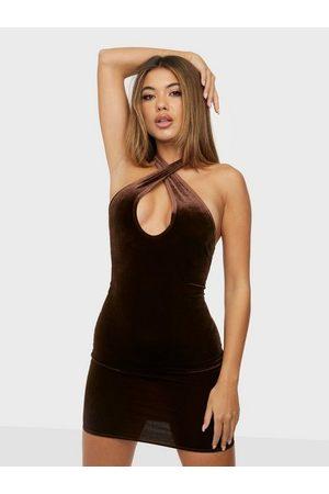 NLY Twist Neck Velvet Dress