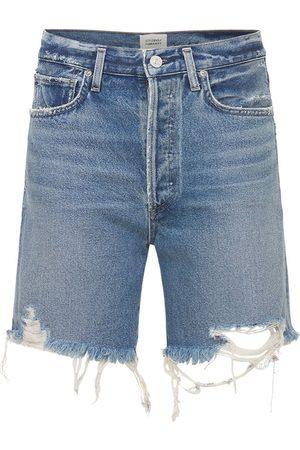 Citizens of Humanity Camila Cotton Denim Shorts W/ Frayed Hem