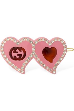 Gucci Gg & Hearts Resin Hair Clip