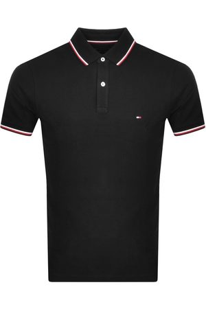 Tommy Hilfiger Miehet Pikee - Tipped Slim Fit Polo T Shirt Black