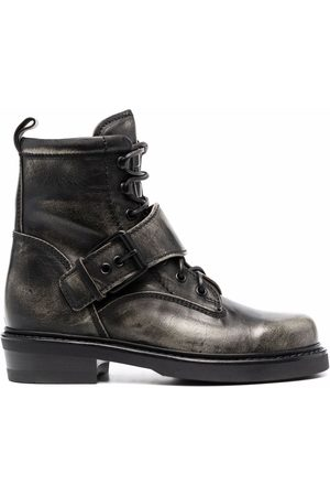 Buttero Naiset Nauhalliset saappaat - Buckle-strap lace-up boots