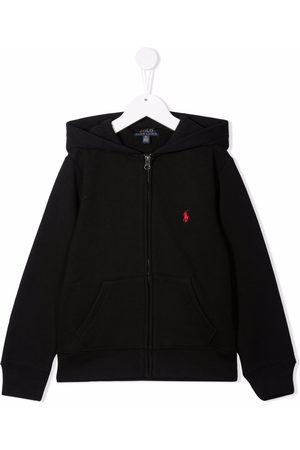 Ralph Lauren Logo-embroidered cotton hoodie