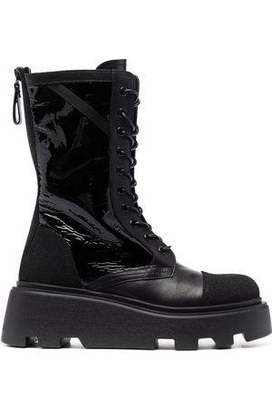 Premiata Naiset Nauhalliset saappaat - Chunky leather lace-up boots
