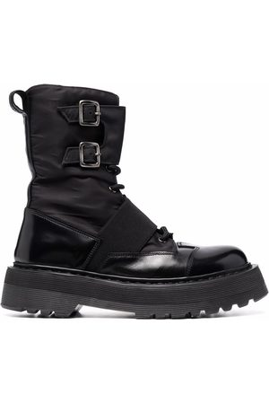 Premiata Naiset Nauhalliset saappaat - Double-buckle lace-up boots