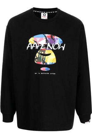 AAPE BY A BATHING APE Miehet T-paidat - Graphic-print longsleeved T-shirt