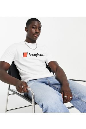 Berghaus Heritage front and back logo t-shirt in white Exclusive at ASOS