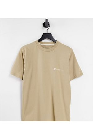 Berghaus Heritage Front and Back Logo t-shirt in beige Exclusive at ASOS-Brown