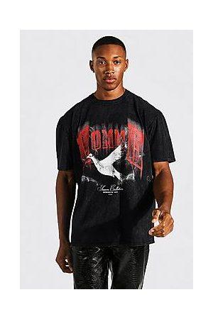 Boohoo Oversized Dove Graphic Overdye T-shirt