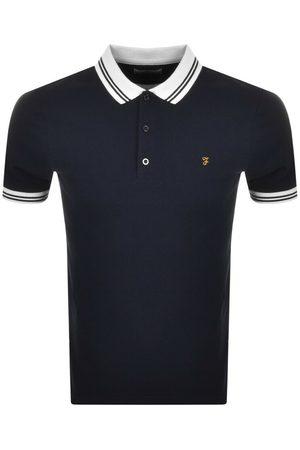 Farah Miehet T-paidat - Short Sleeve Polo T Shirt Navy