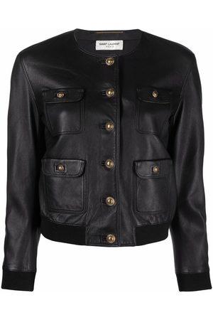 Saint Laurent Single-breasted leather jacket