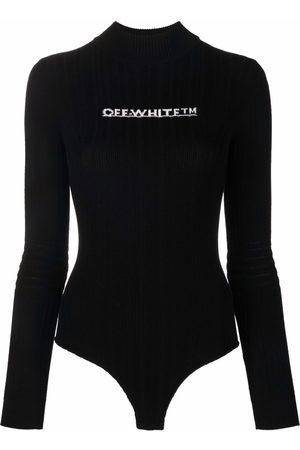 OFF-WHITE Long-sleeve logo bodysuit